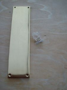 "12"" Solid Heavy Duty Polished Cast Brass Door Finger Plate New"